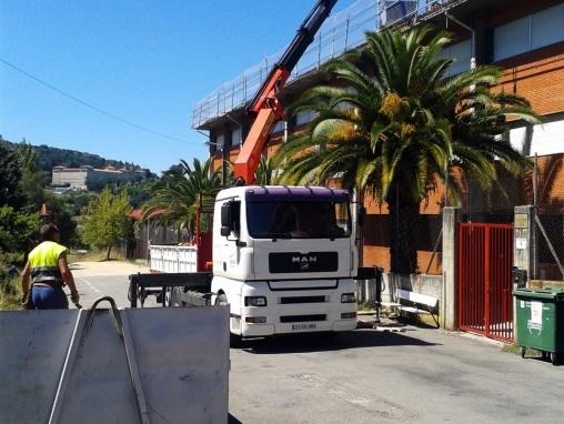 Grúas y contrucciones en Ourense